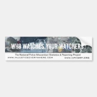 NPMSRP Watchers Bumper Sticker Car Bumper Sticker