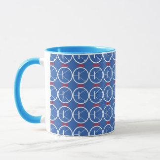 NPN Transistor blue-red mug