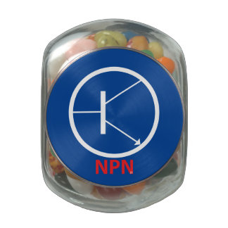 NPN Transistor Glass Jelly Belly™ Glass Jar