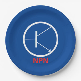 "NPN Transistor Paper Plates 9"""