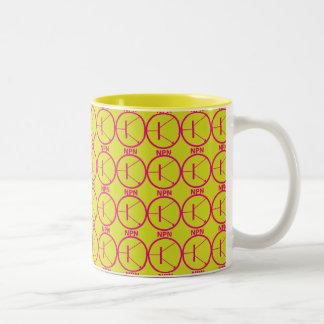 NPN Transistor pink-yellow mug