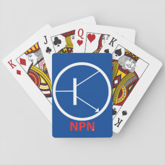 NPN Transistor Playing Cards, Standard Index faces Poker Deck