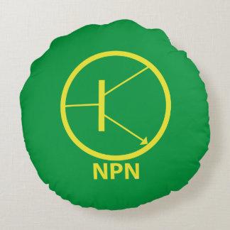 "NPN Transistor Polyester Round Throw Pillow (16"") Round Pillow"