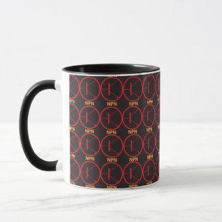 NPN Transistor red-black mug