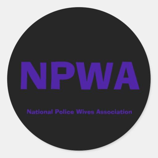 NPWA, asociación de las esposas de la policía Pegatina Redonda