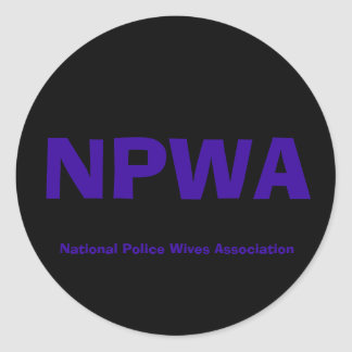 NPWA, National Police Wives Association Classic Round Sticker