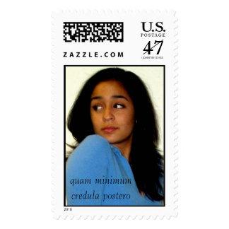 NR2, quam minimum credula postero Postage Stamp