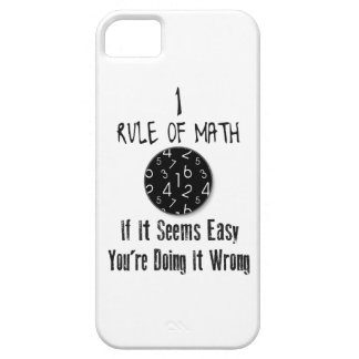 Nr 1 rule of Math iPhone 5 Cases