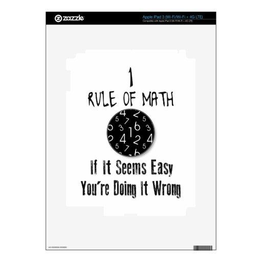 Nr 1 rule of Math iPad 3 Skins