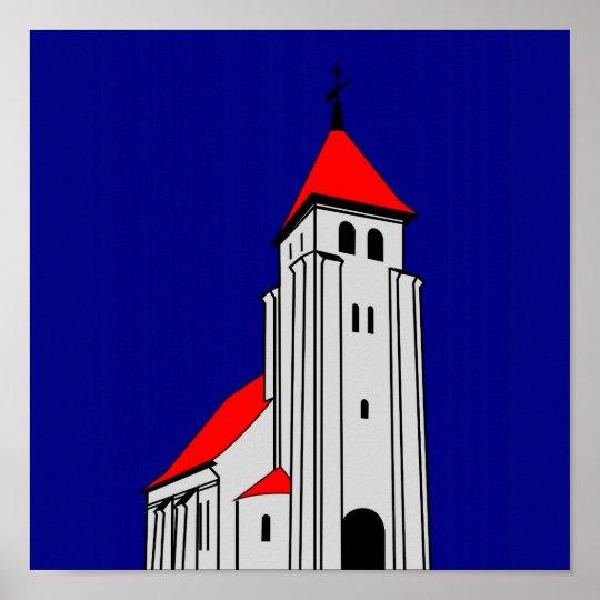 Nr. Bjert Kirke - North Bjert Church Poster