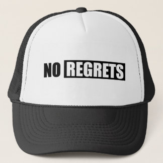 NRA NO REGRETS ATTITUDE BLACK WHITE SHOUTOUT ATTIT TRUCKER HAT
