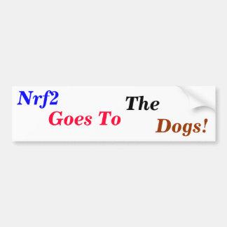 Nrf2 canino pegatina para auto