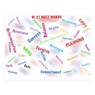 NS BL 21 Buzz Words Postcard