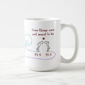 """NS-S heart SS-S"" Mugs"