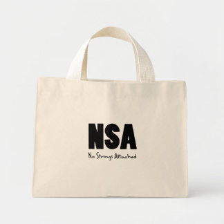NSA black Mini Tote Bag
