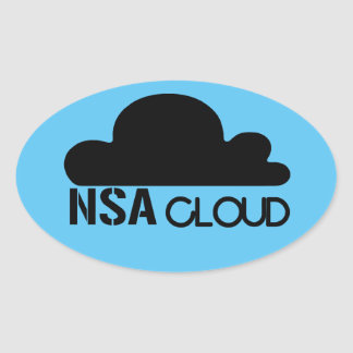 NSA en la nube Colcomanias De Óval