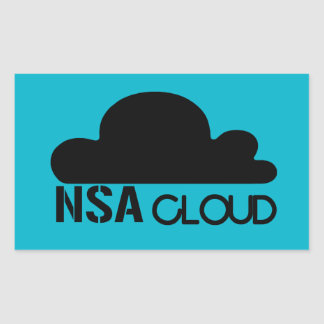 NSA en la nube Rectangular Pegatina