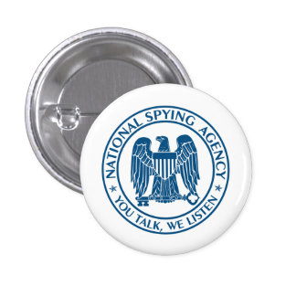 NSA: National Spying Agency Button