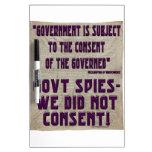 NSA no consentimos Pizarras