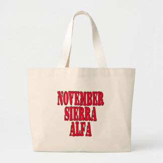 NSA No Strings Attached Large Tote Bag