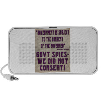 NSA We Did Not Consent Notebook Speakers
