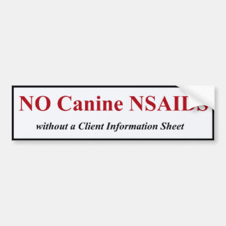 NSAID canino BumperSticker (rojo) Pegatina Para Auto