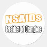 NSAIDs para el desayuno Etiquetas Redondas