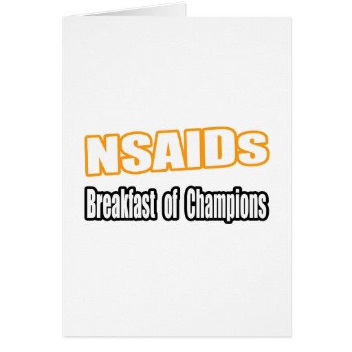 NSAIDs para el desayuno Tarjetón