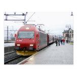 NSB Electric Locomotive EL 18 at Lillehammer Postcard