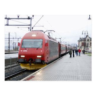 NSB Electric Locomotive EL 18 at Lillehammer Postcards