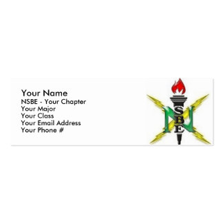 NSBE National Convention Profile Card Double-Sided Mini Business Cards (Pack Of 20)