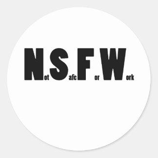 NSFW BL CLASSIC ROUND STICKER