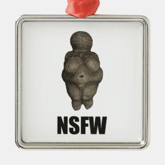 NSFW Prehistoric Venus Figurine Metal Ornament