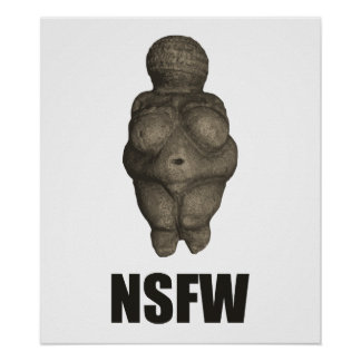 NSFW Prehistoric Venus Figurine Poster