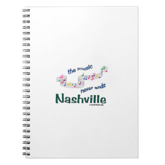 Nsicville Music Notes Souvenirs Spiral Notebook