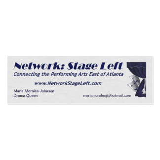 NSL Profile Cards - skinny Mini Business Card