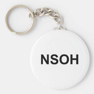 NSOH BASIC ROUND BUTTON KEYCHAIN