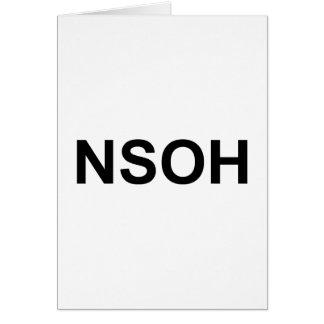 NSOH CARD
