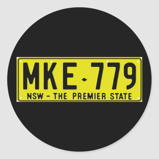 NSW80 CLASSIC ROUND STICKER