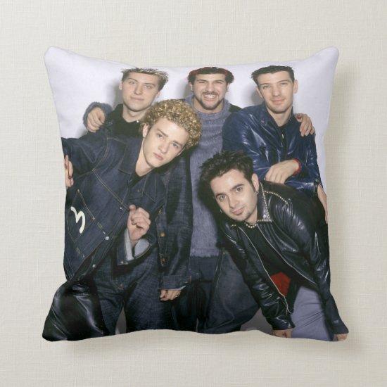 NSYNC Striking A Pose Throw Pillow