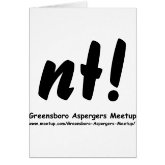 nt! Greensboro Aspergers Meetup and web Cards