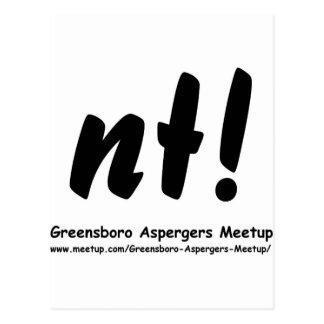 nt! Greensboro Aspergers Meetup and web Postcards