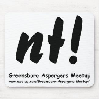 ¡NT! Greensboro Aspergers Meetup y tela Alfombrilla De Ratón
