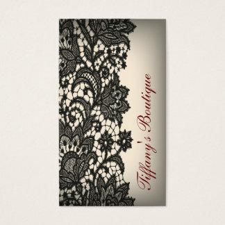 ntage black Lace beige Paris Fashion Business Card