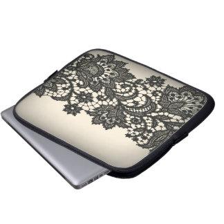 ntage black Lace beige Paris Fashion Computer Sleeve