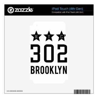 NTh brooklyn Skins For iPod Touch 4G