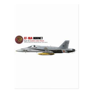 NTM08 EF-18A Spain Air Force Postcard