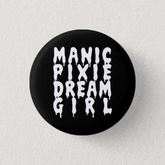 Nu Goth Manic Pixie Dream Girl Pinback Button