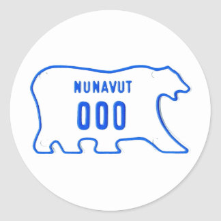 NU motorcycle sample Classic Round Sticker