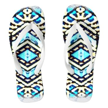 Beach Themed Nu One Blue Urban Style Flip Flops 1